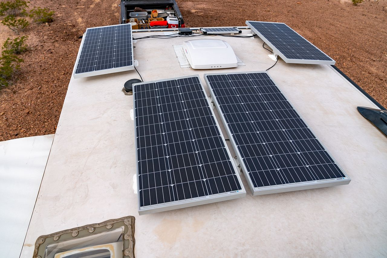 RV Solar: Part 3 - Installing Rooftop Solar Panels