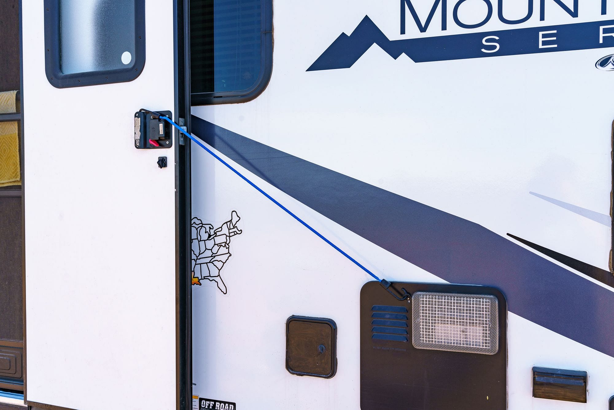 Bungee Cord RV Door