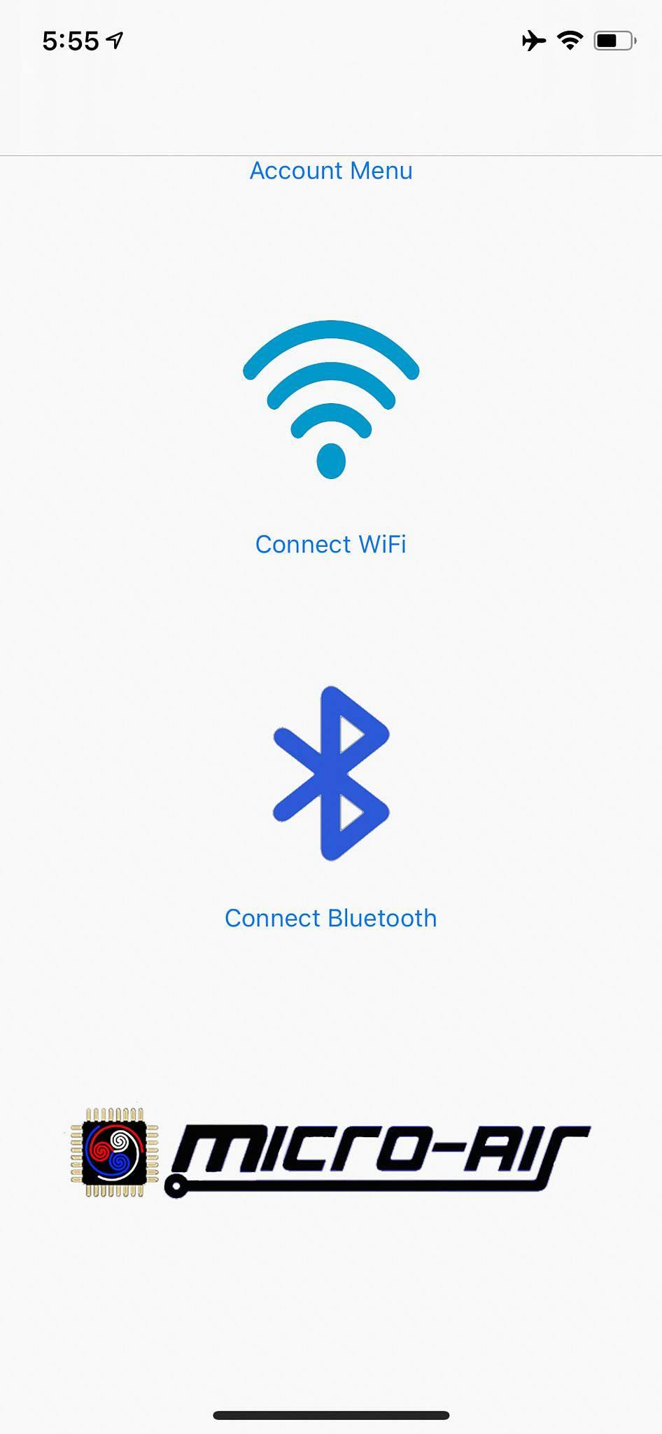 EasyTouch RV iOS Home Screen