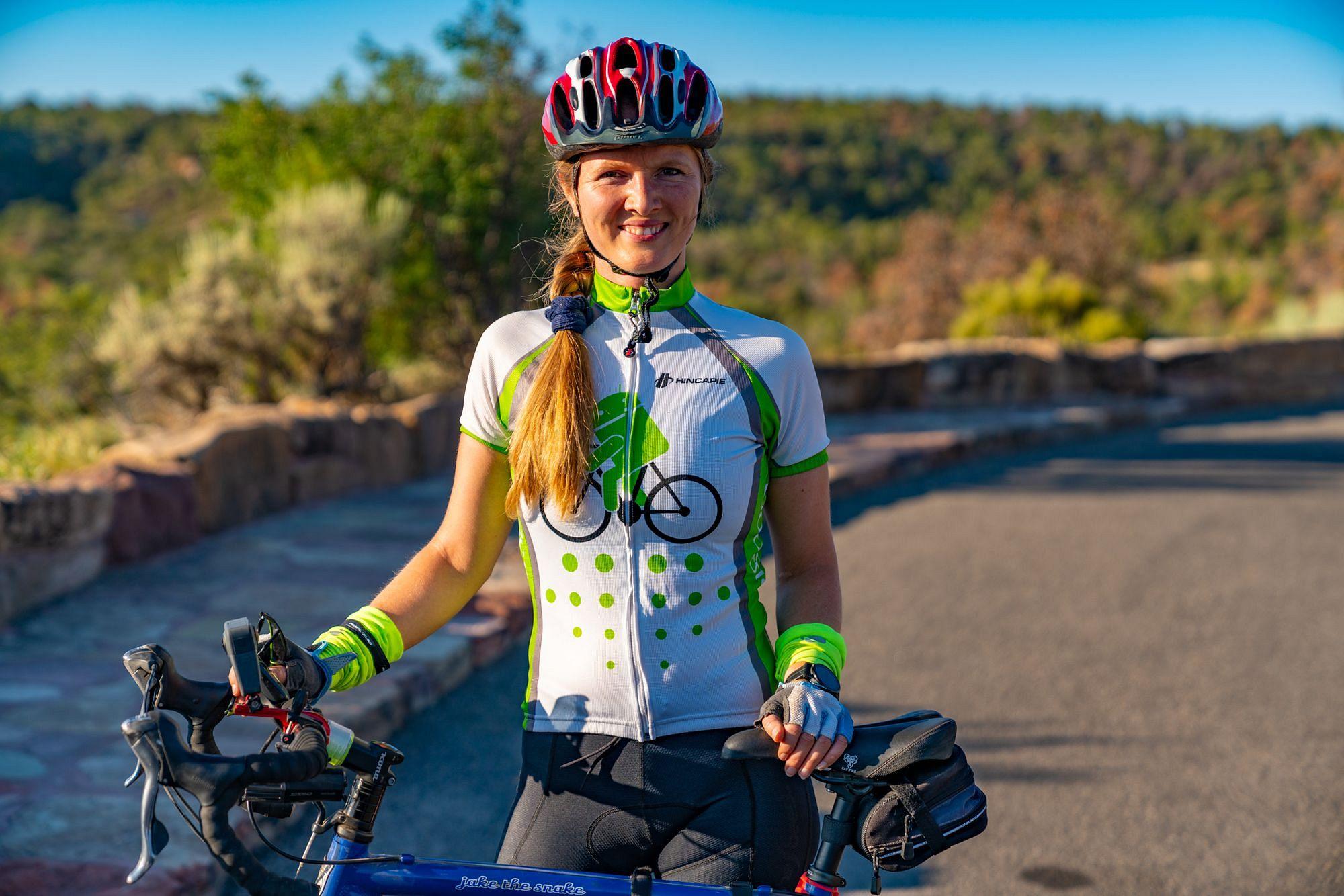 Cycling Along Rim Rock Drive