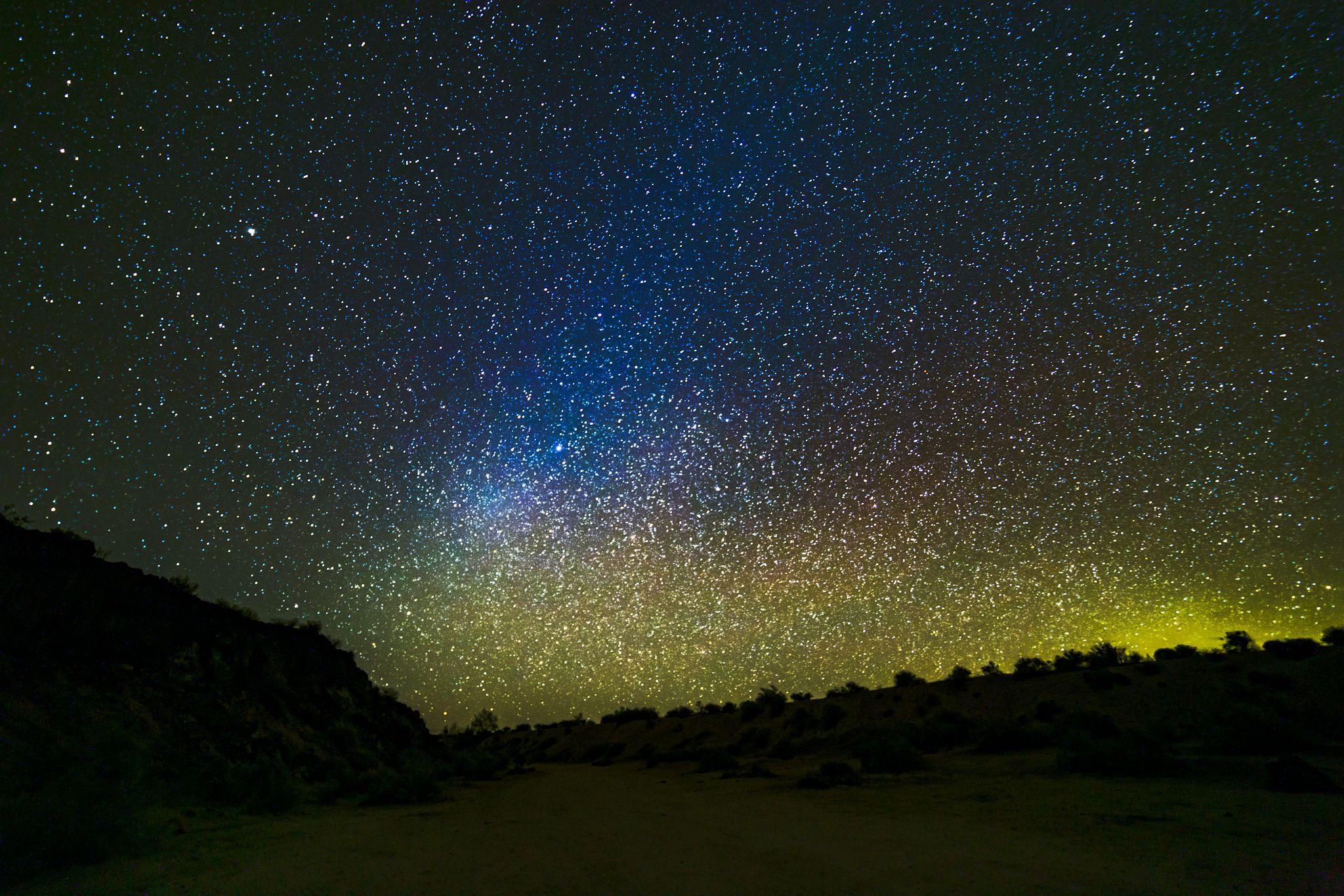 Stars above the Mojave Desert