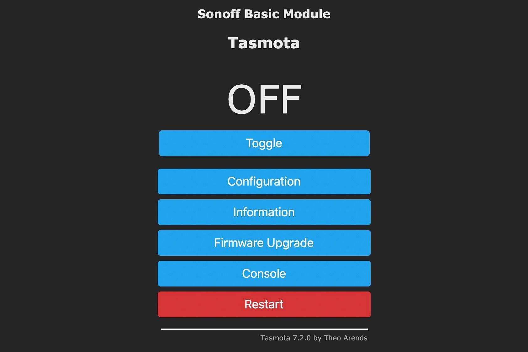 Tasmota Sonoff Basic Module
