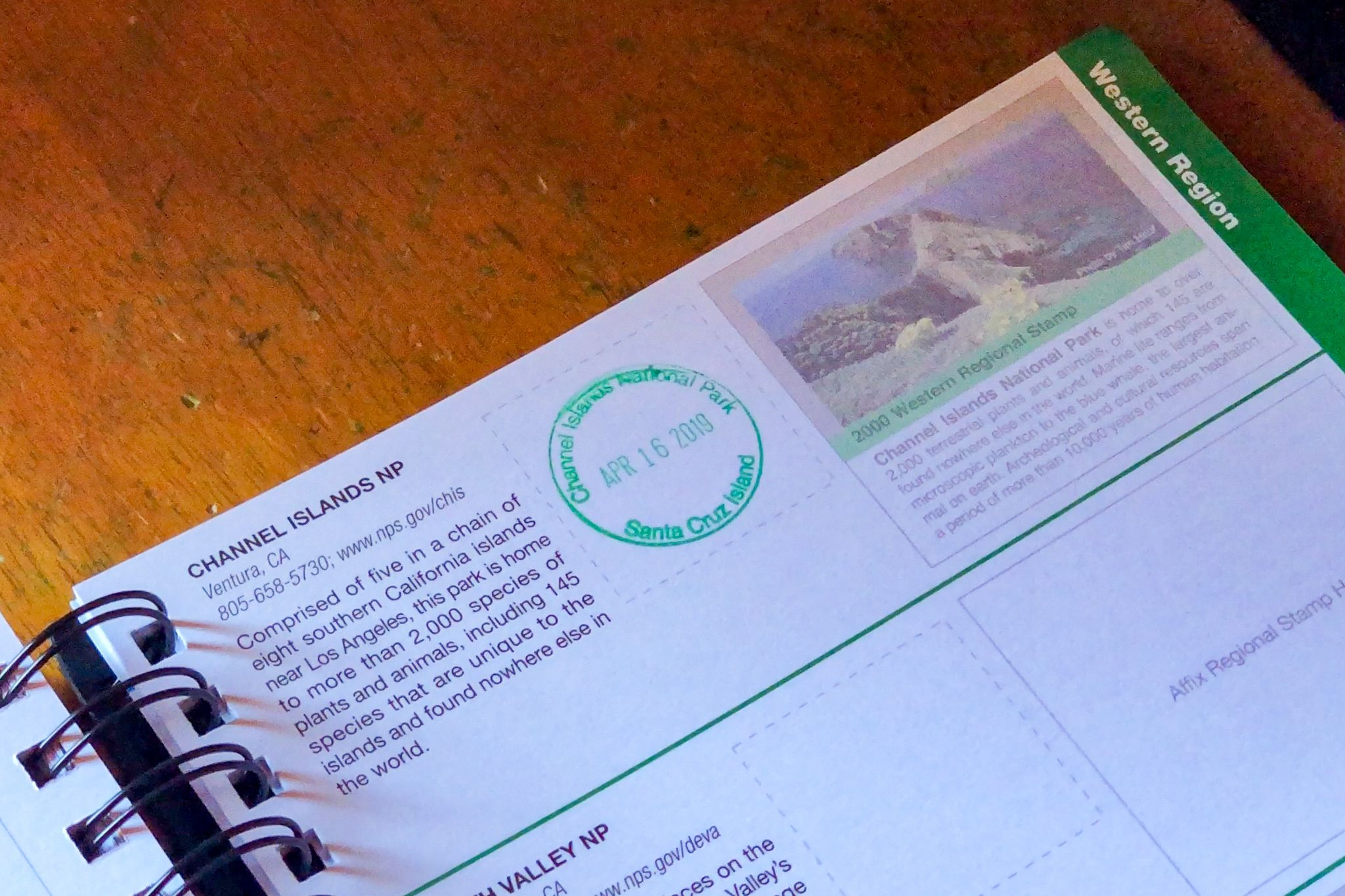 Channel Islands National Park Passport Stamp
