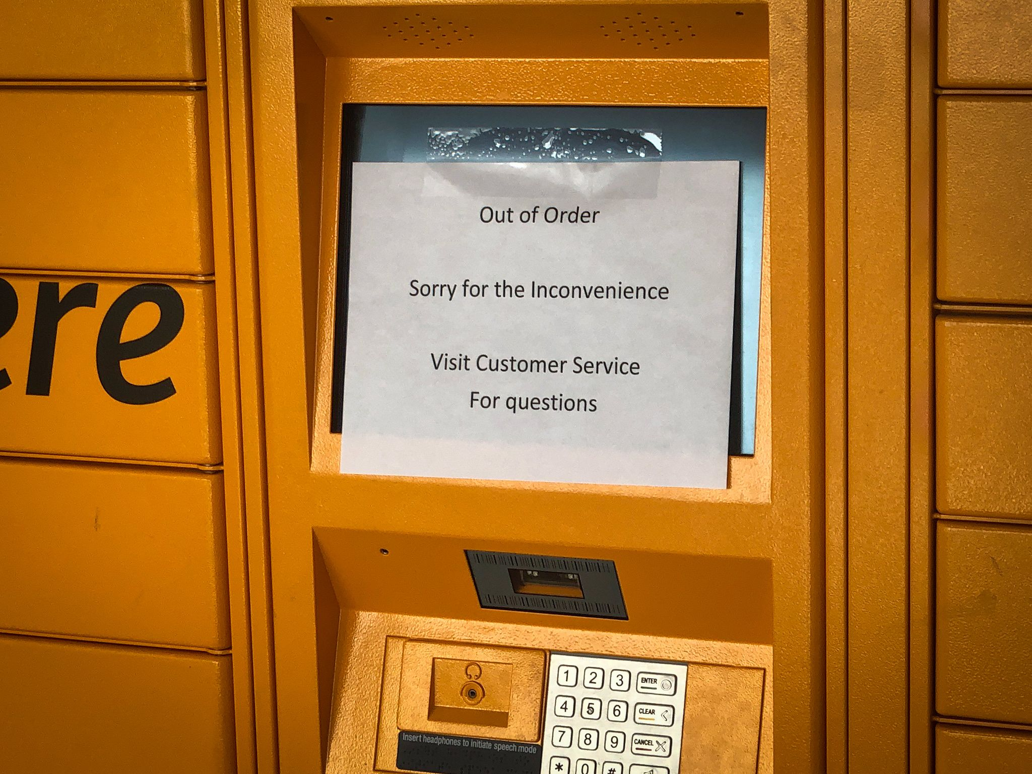 Amazon Locker: Out of Order