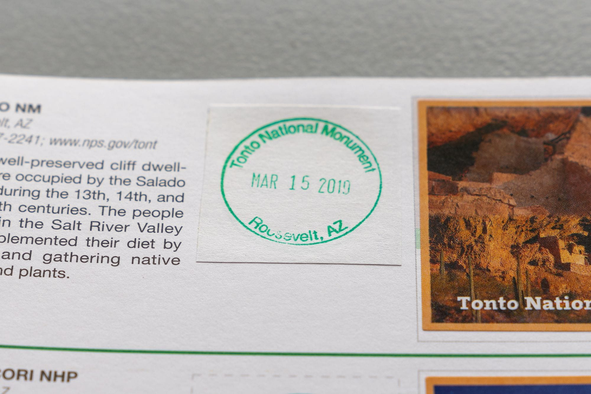 National Park Cancellation Stamp