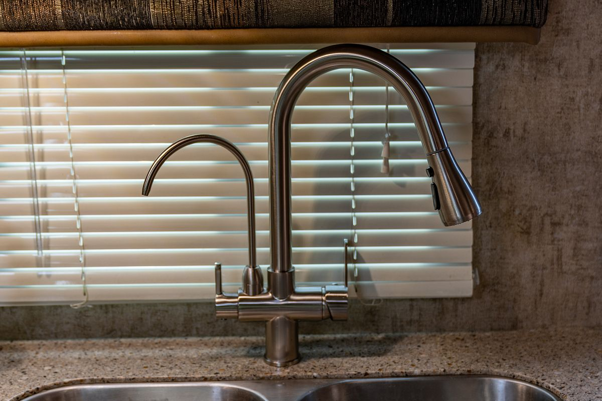 Installing A Double Kitchen Faucet And Ultrapure Rv Water Filter Adventurous Way