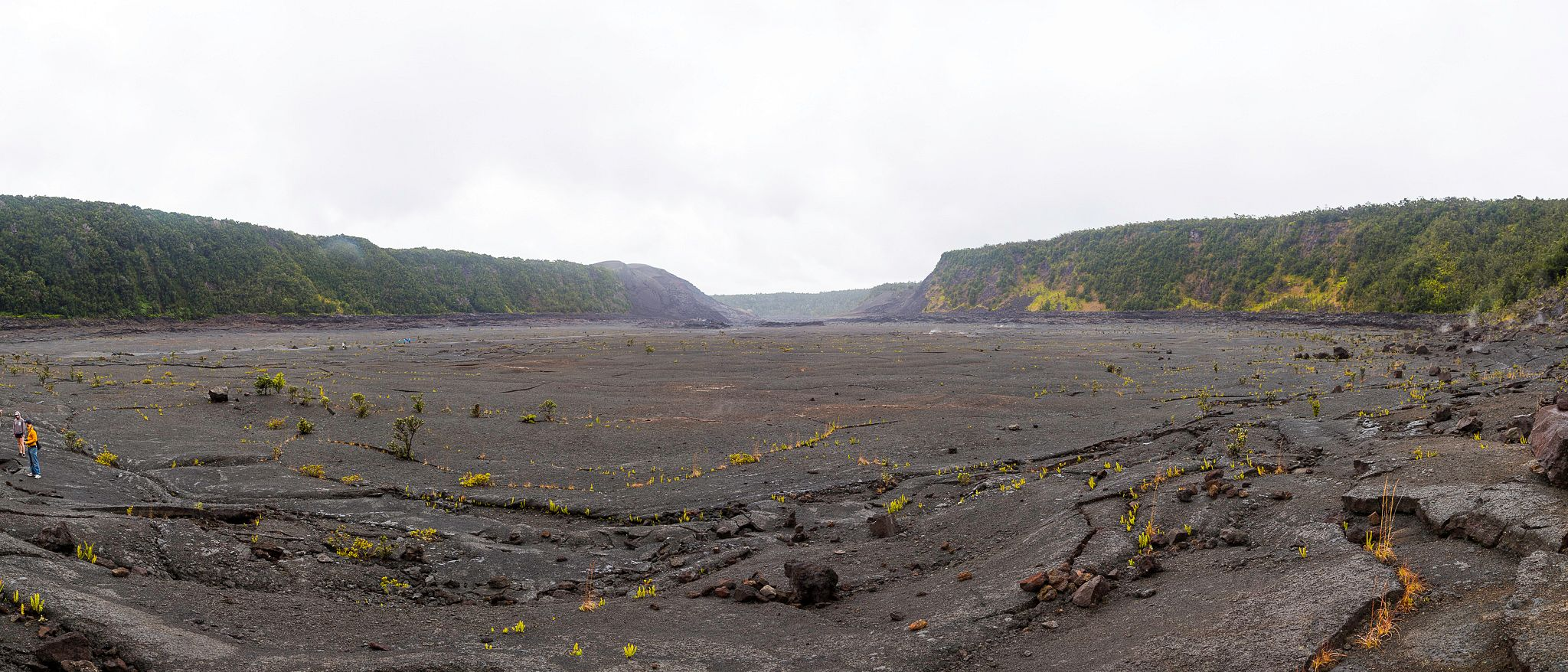 Inside Kilauea Iki Crater.