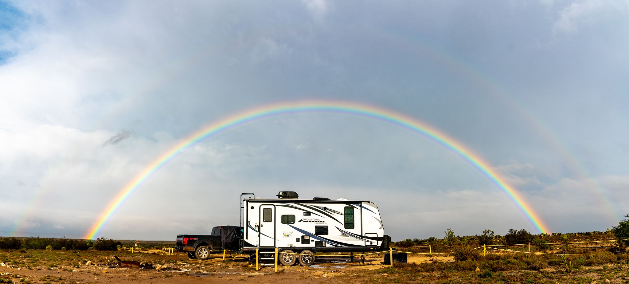 Rainbow Above our Trailer