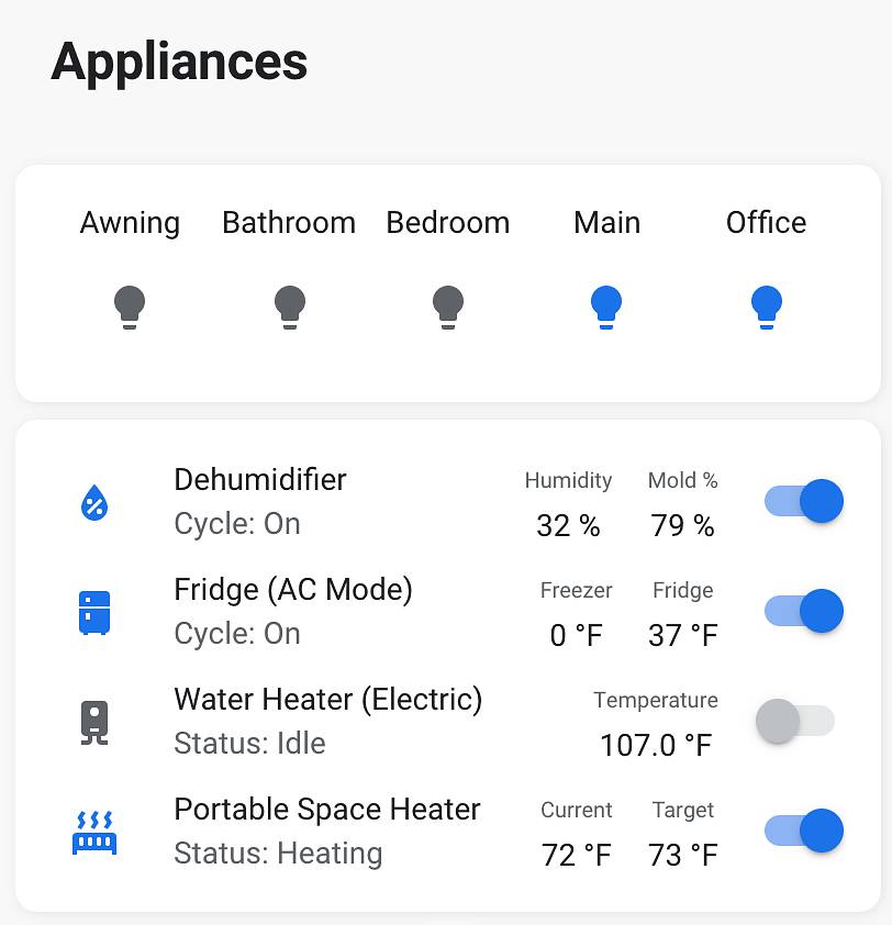 Home Assistant Switches