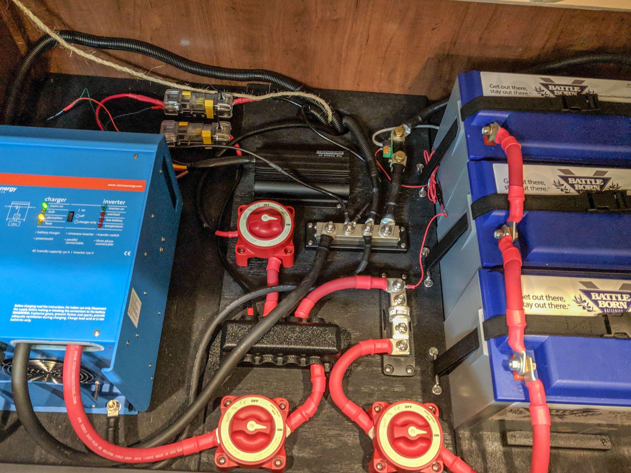 Final wiring setup