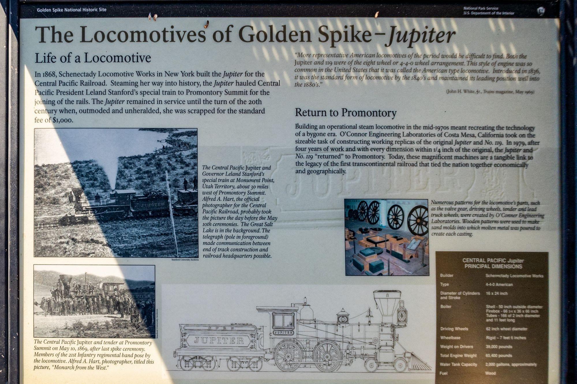 Locomotives of Golden Spike - Jupiter