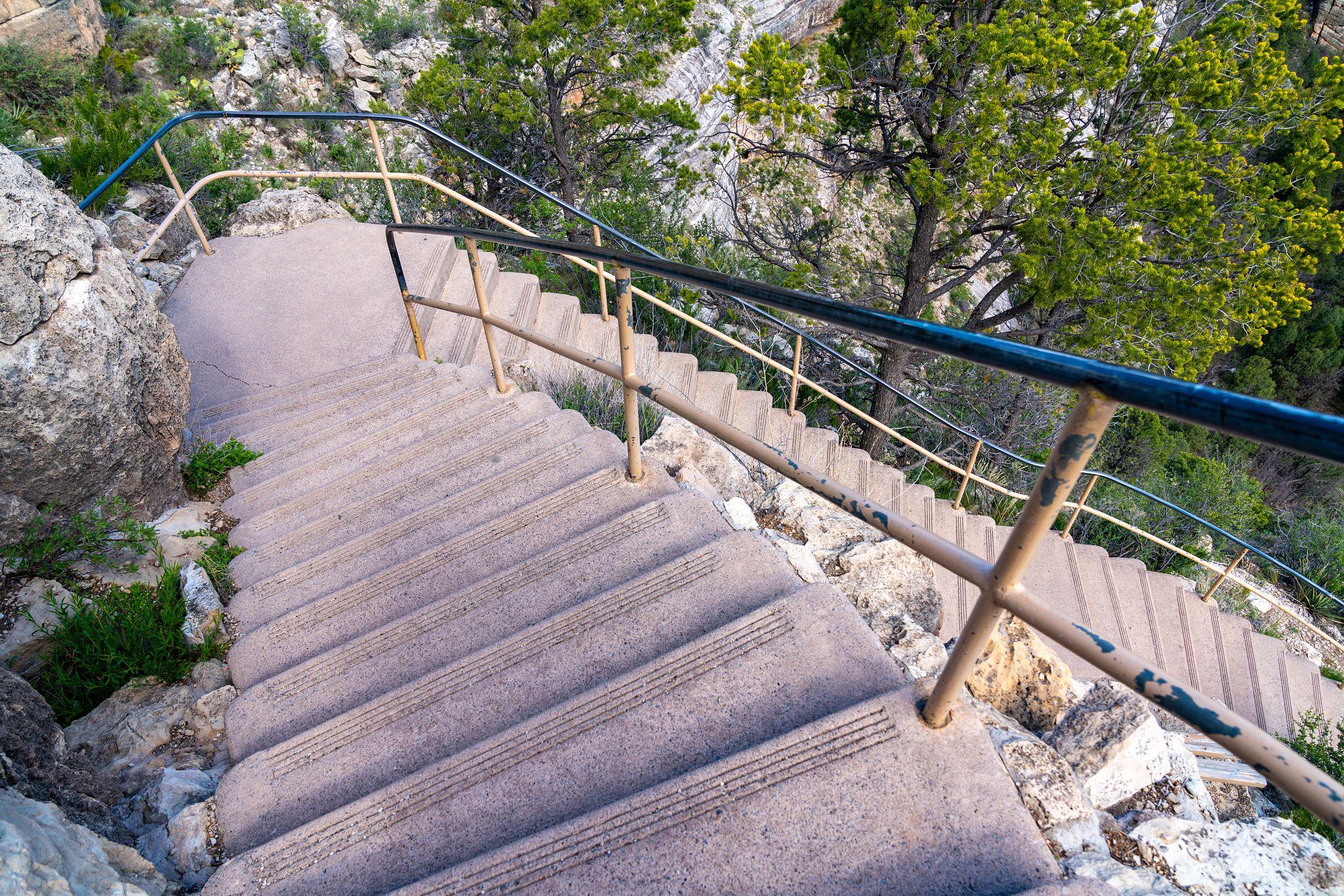 Walnut Canyon Island Trail Stairs