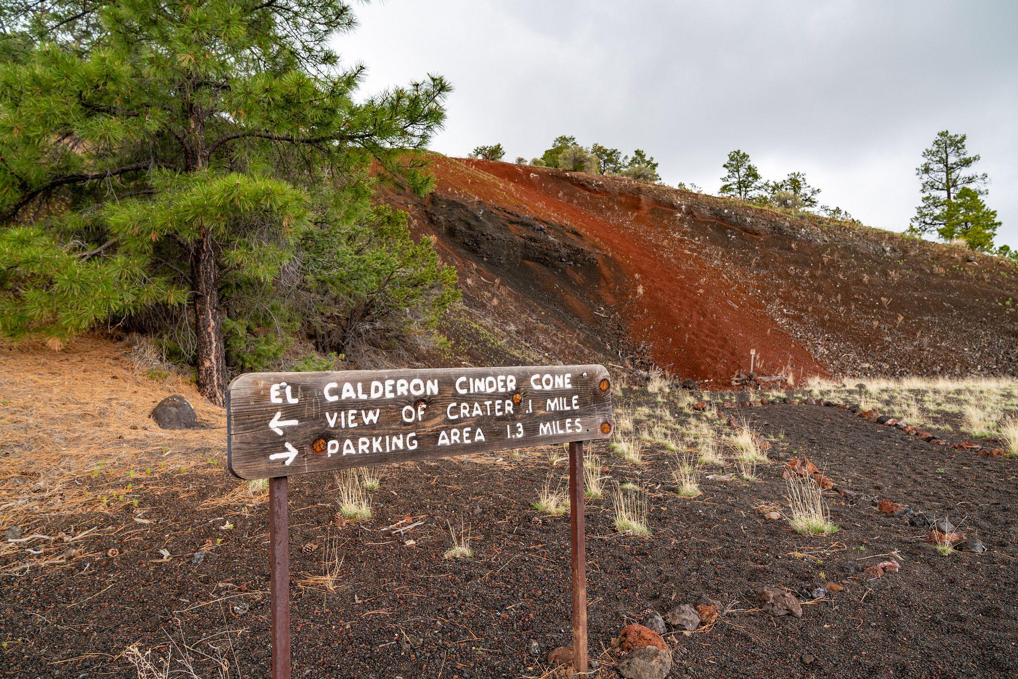 El Calderon Trail Sign