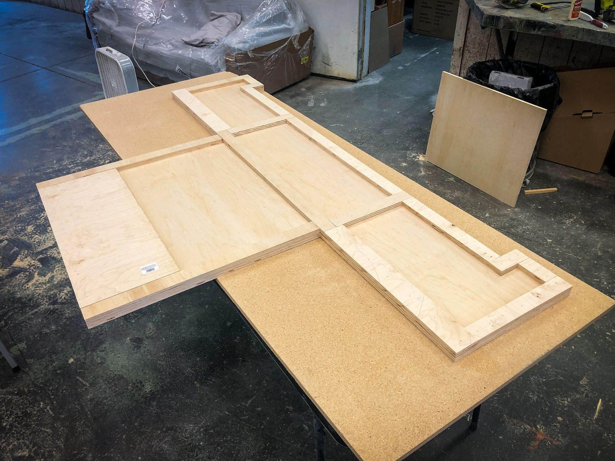 Custom RV Plywood Desk