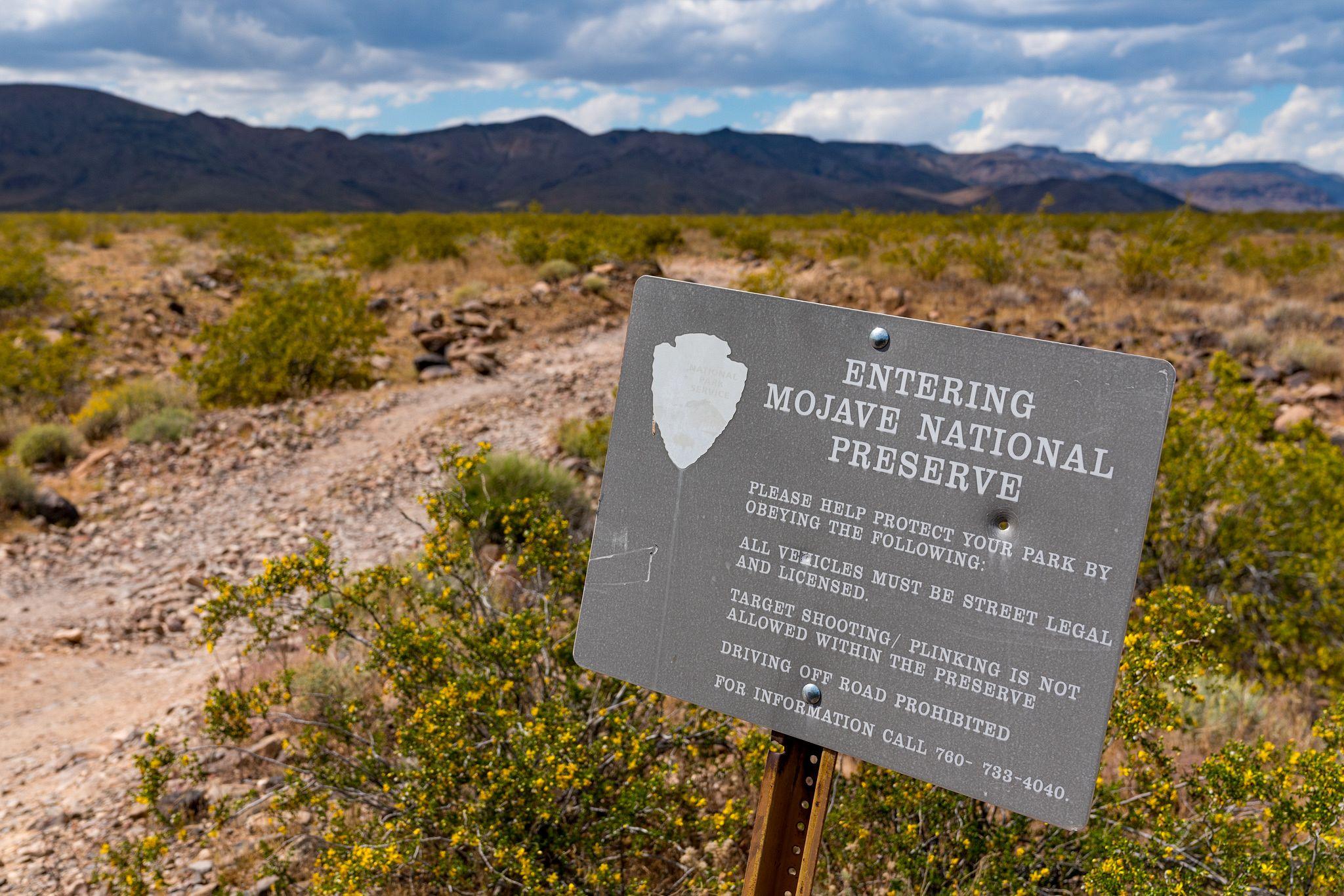 Mojave National Preserve Sign