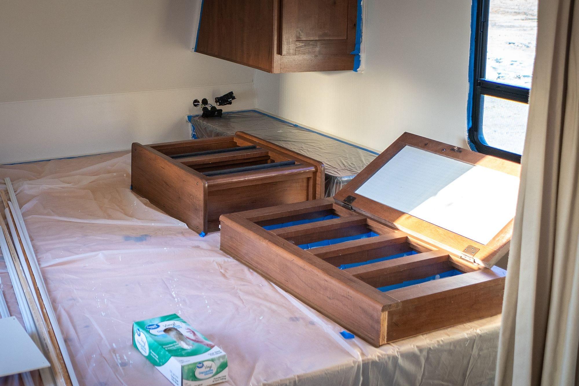 Painting RV Medicine Cabinet