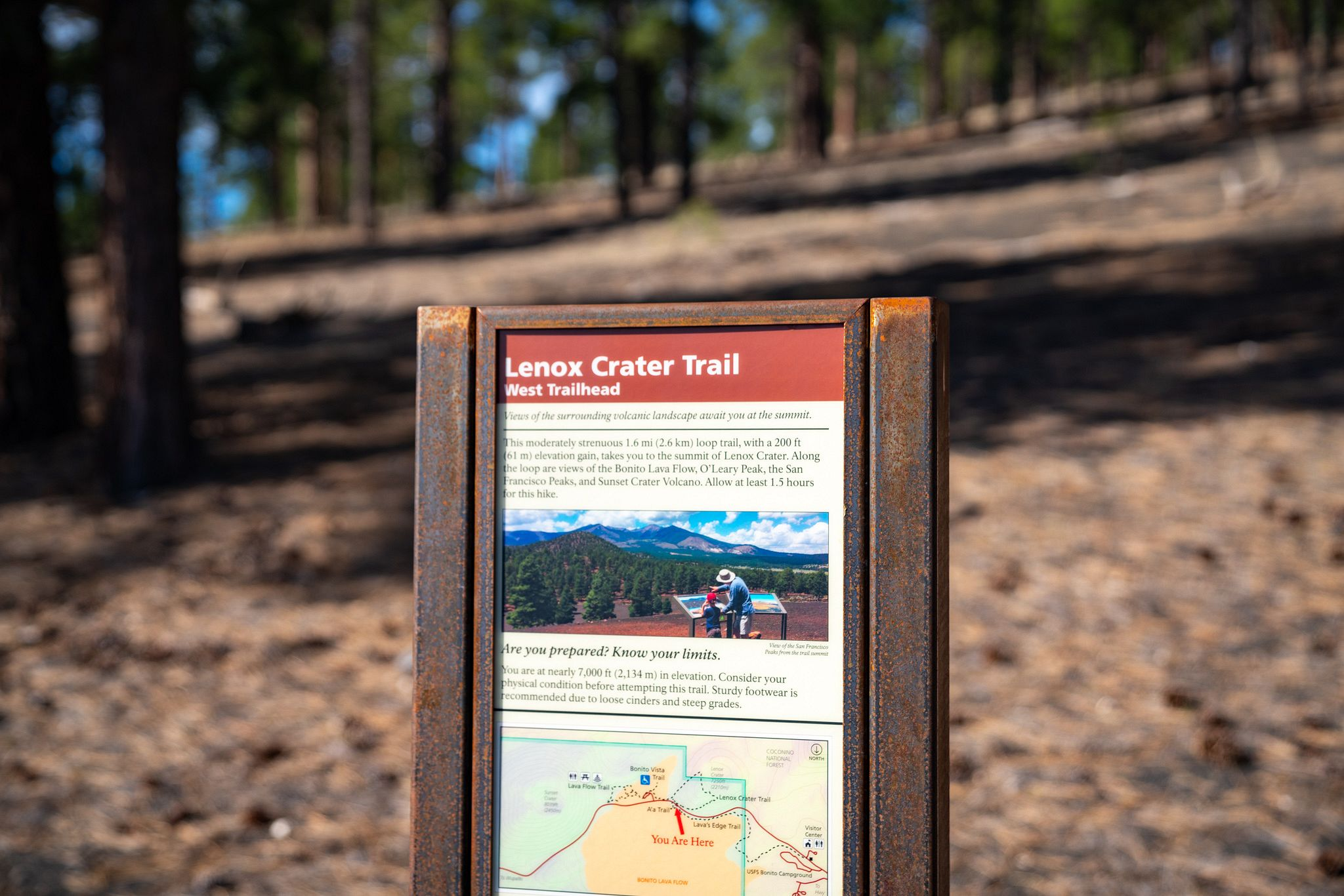 Lenox Crater Trail Sign