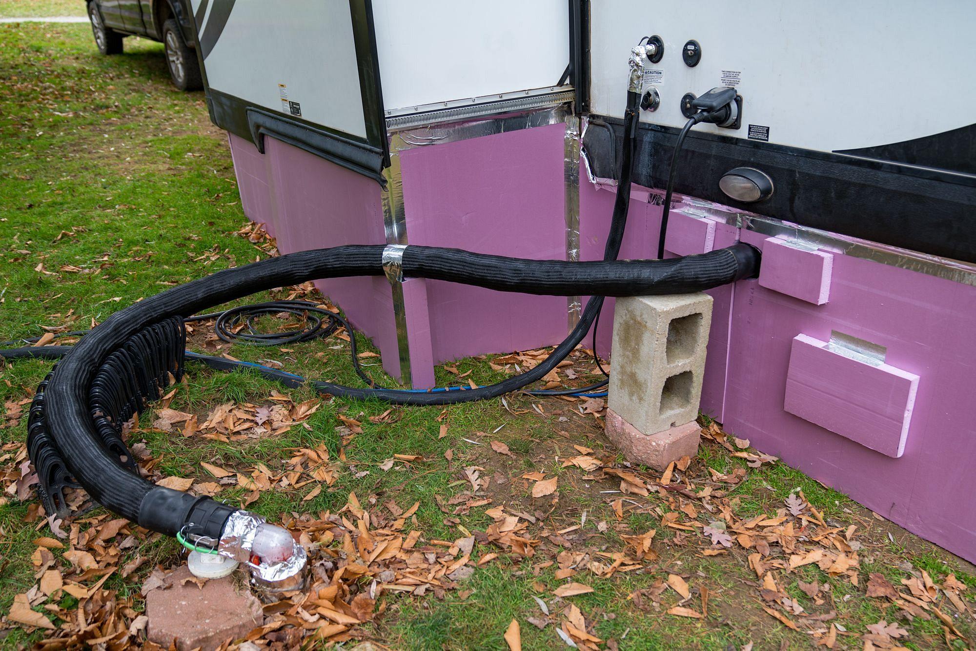 Installing NoFreezeWaterHose Fresh Water & Waste Hoses