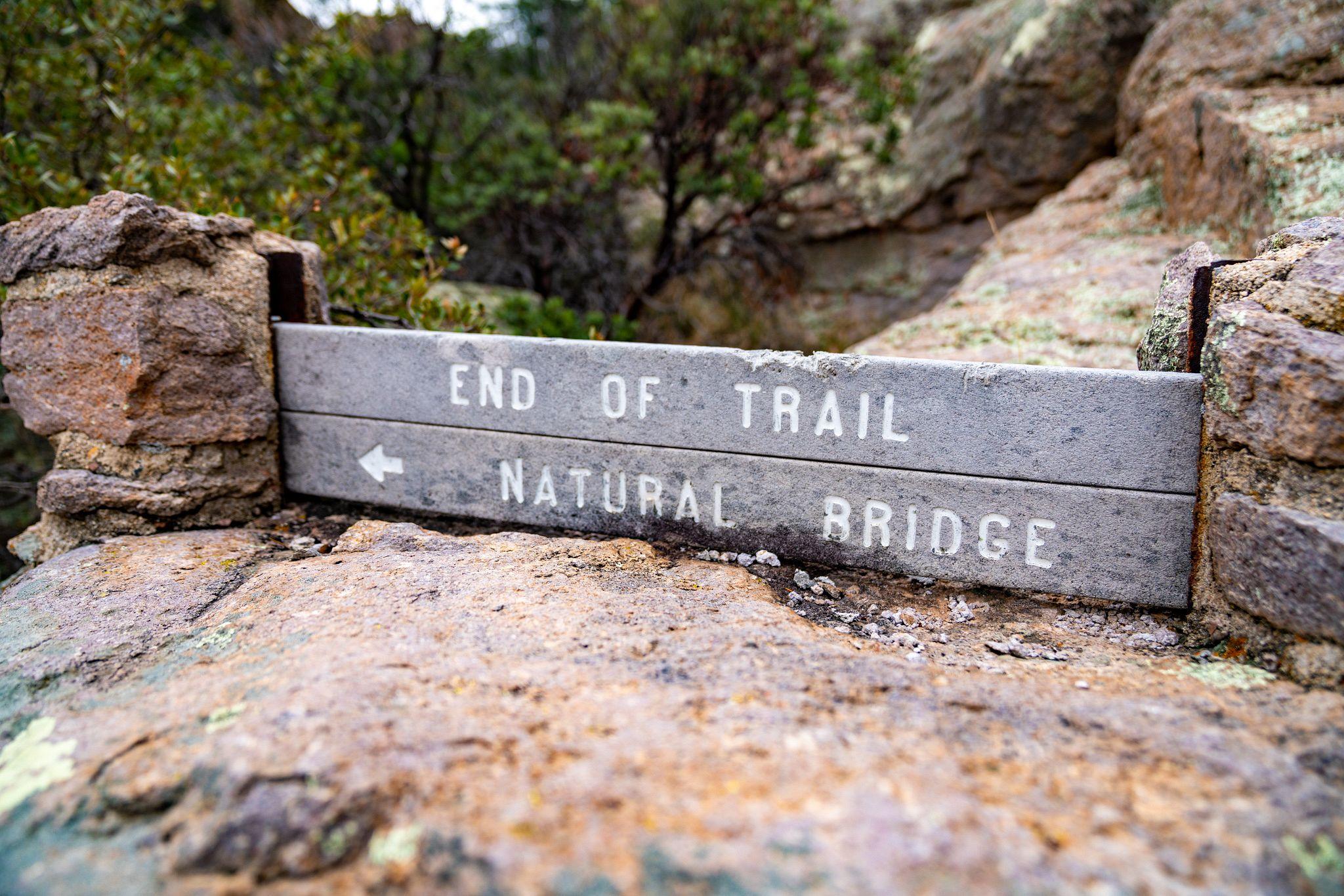 End of Trail - Natural Bridge