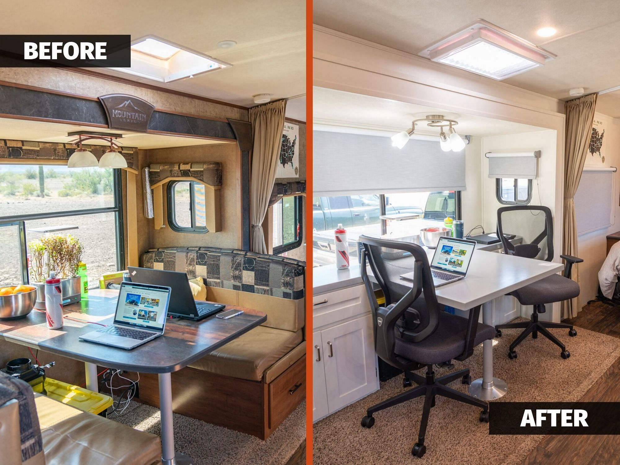 Travel Trailer RV Remodel Before and After