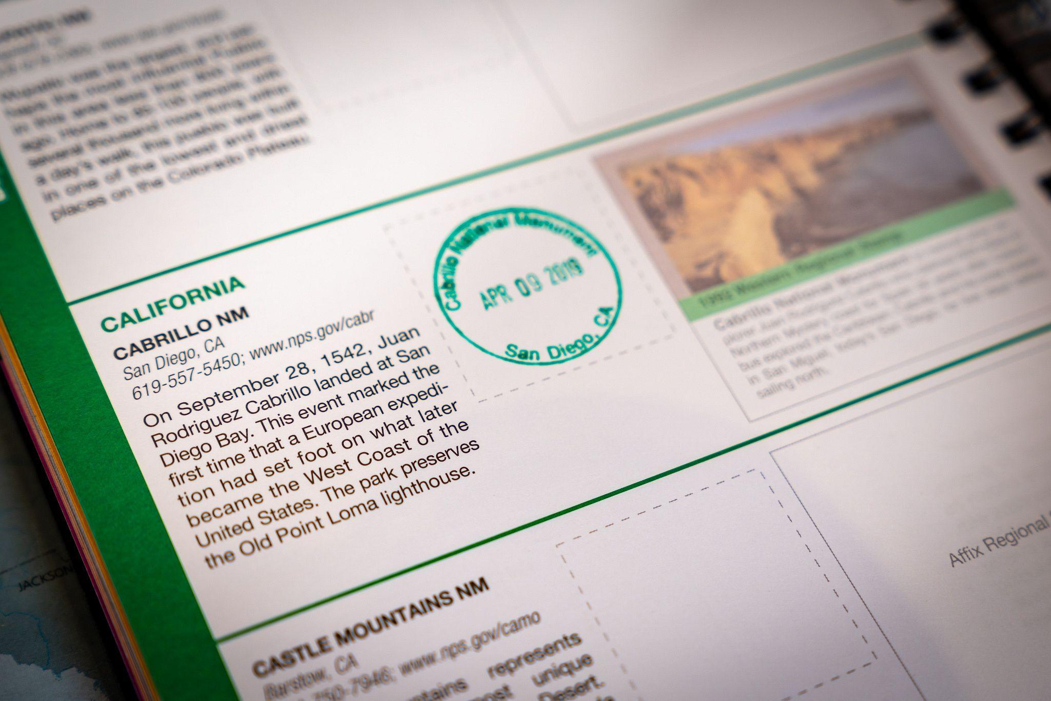 National Park Passport Stamp