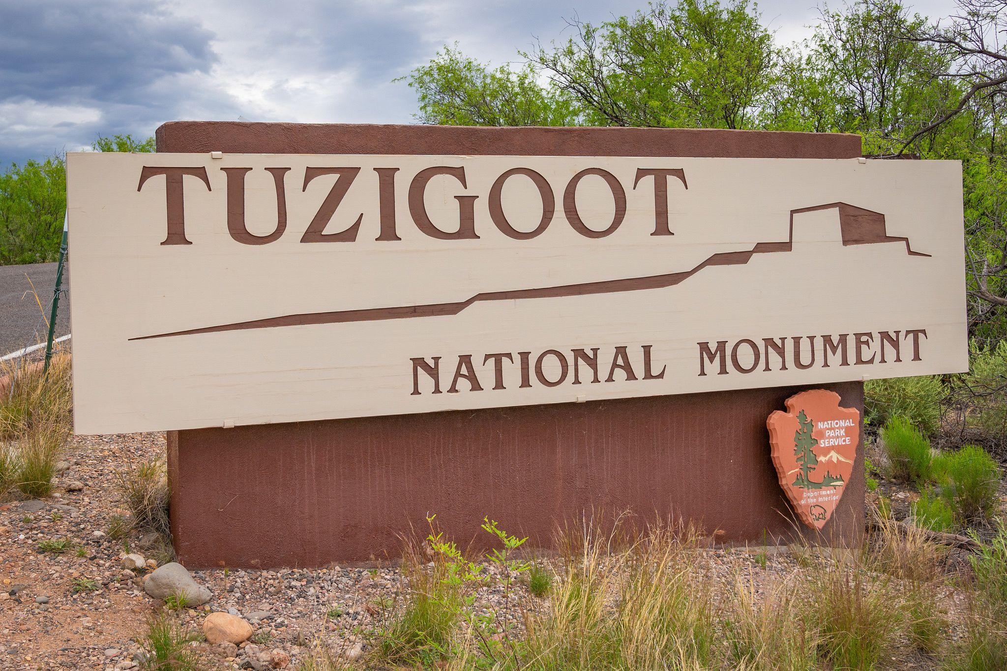 Tuzigoot National Monument Entrance Sign