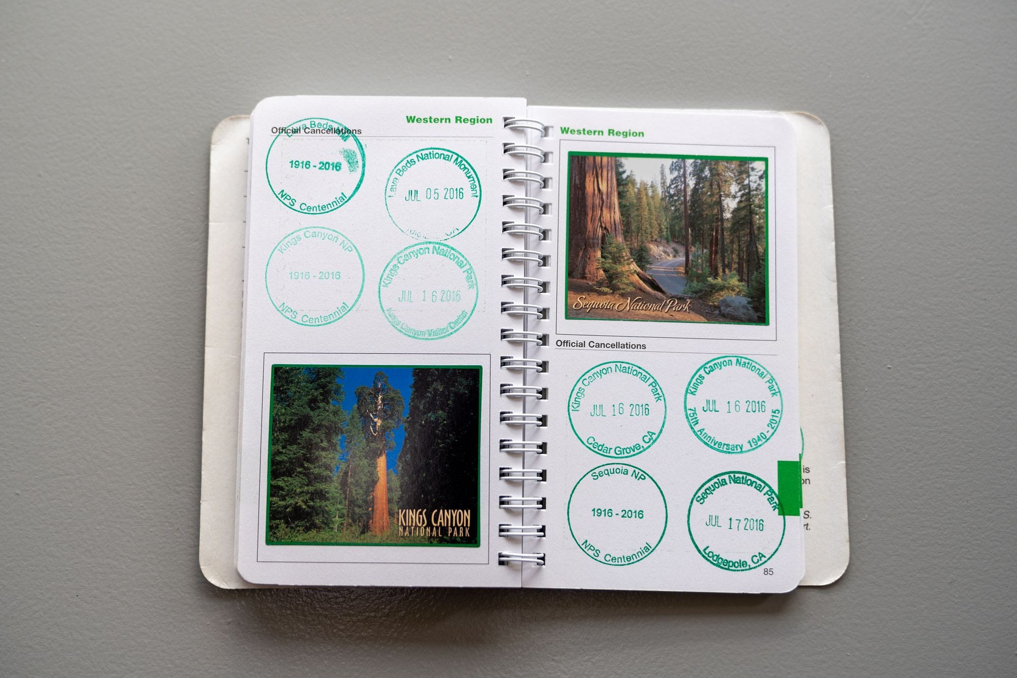 National Park Passport Classic Edition Inside