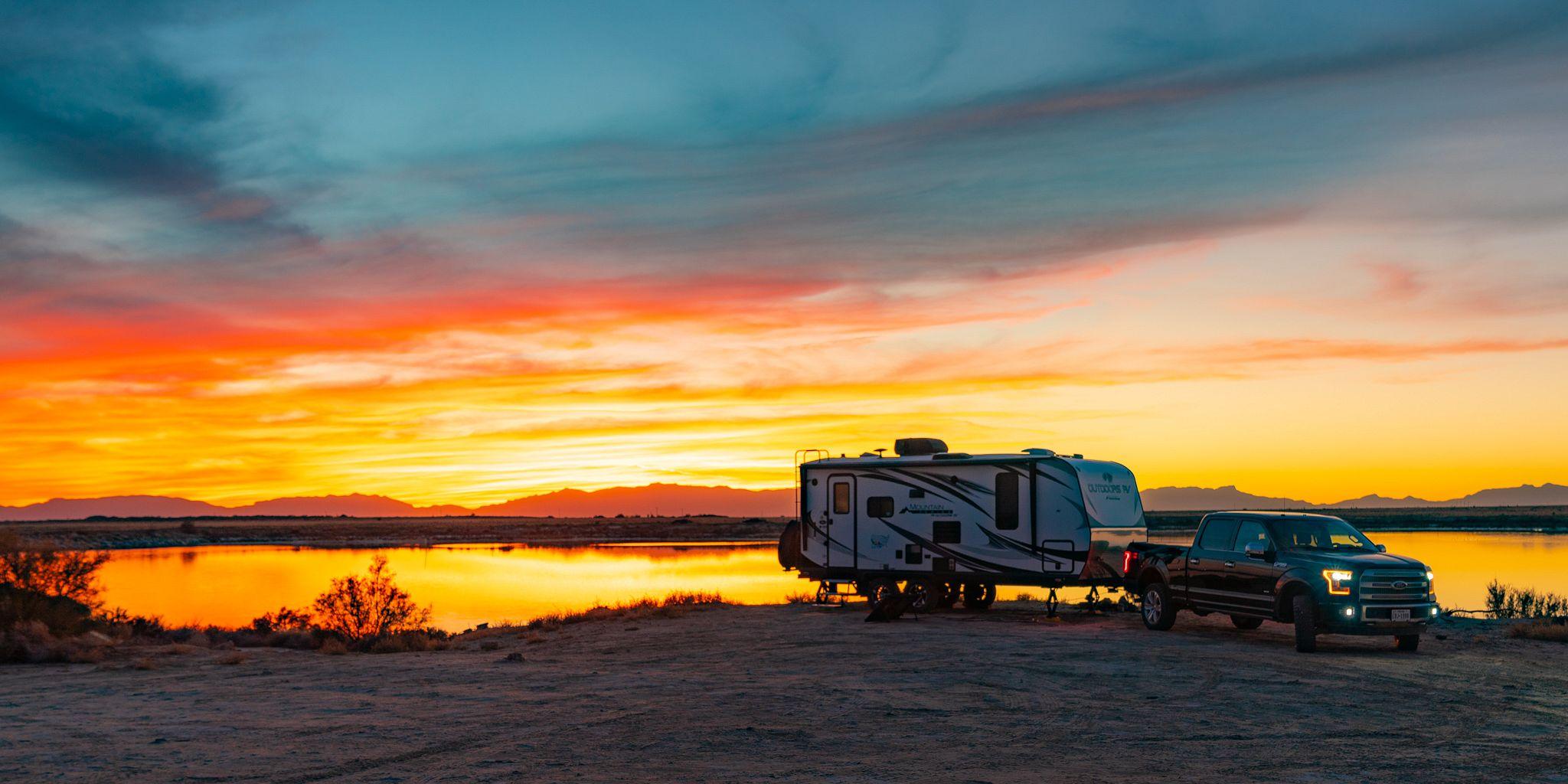 Sunset at Lake Holloman