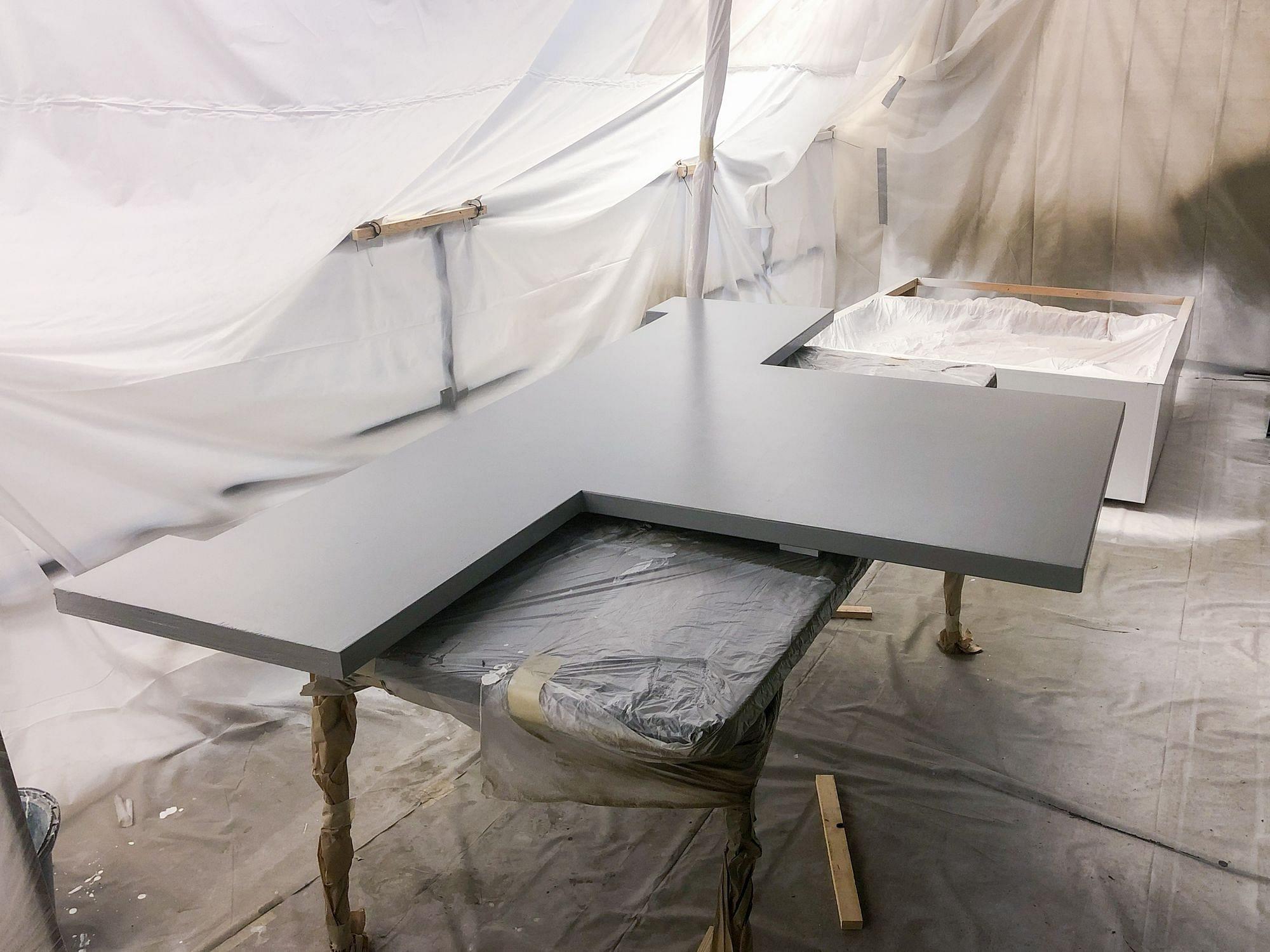 Painting RV Desk