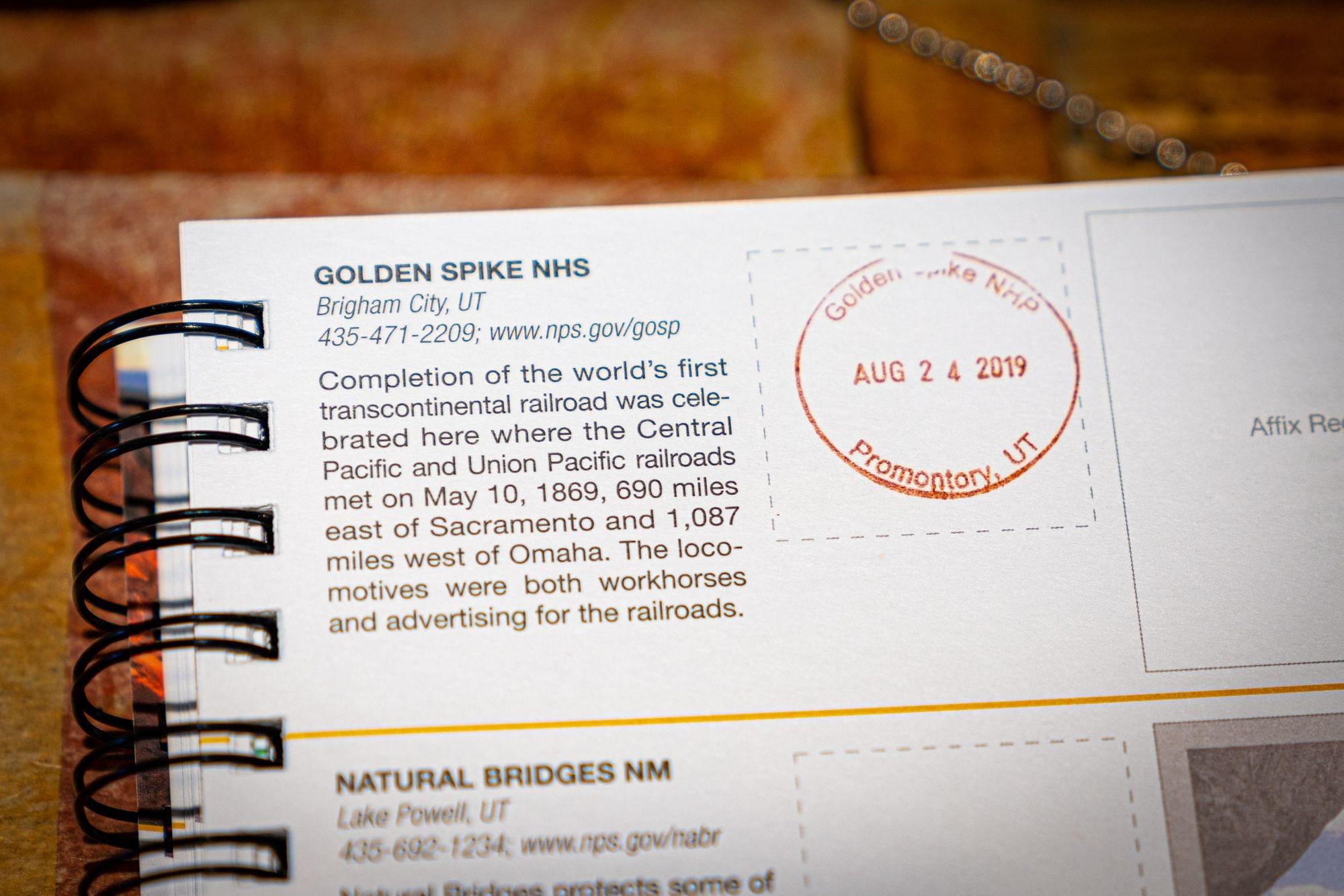 Golden Spike National Historical Park Passport Stamp