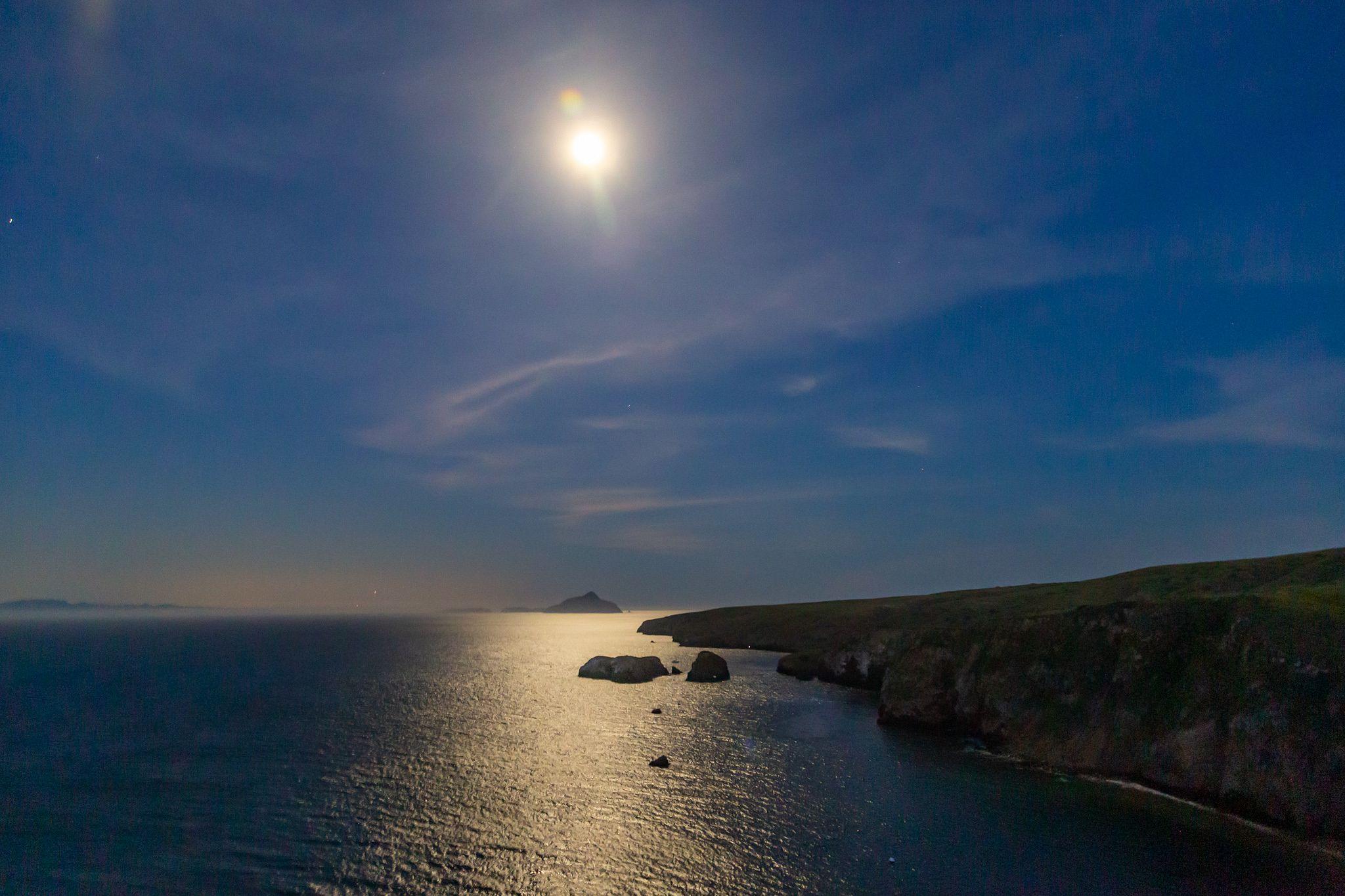 Full Moon on Channel Islands