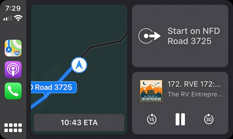 Apple CarPlay on iOS 13