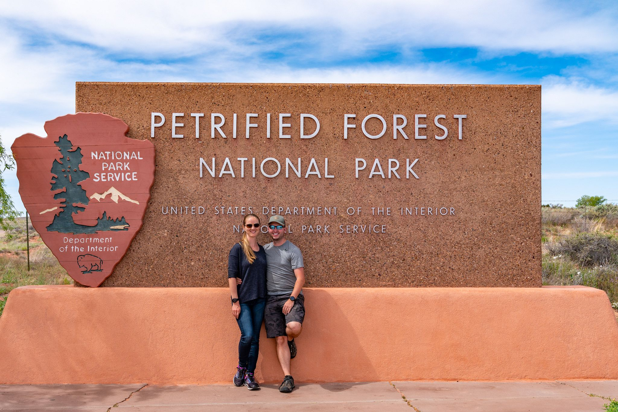 Petrified Forest National Park Entrance Sign