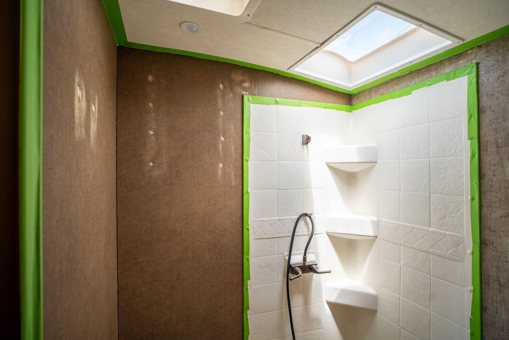 Masking RV Shower