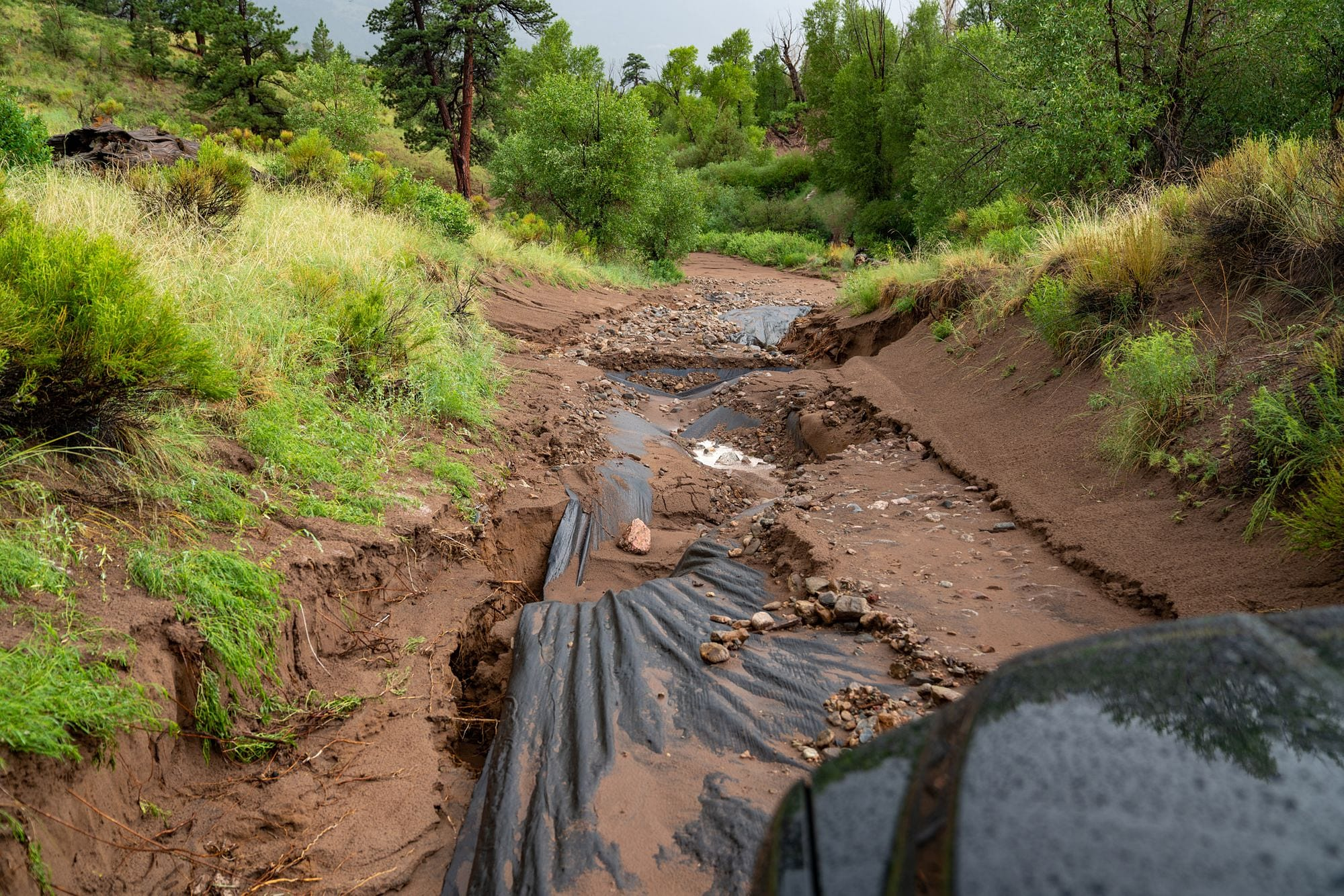 Medano Pass Road Washed Out