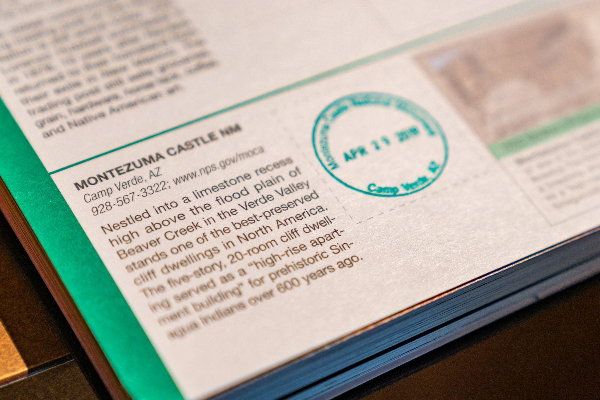 Montezuma Castle Passport Stamp