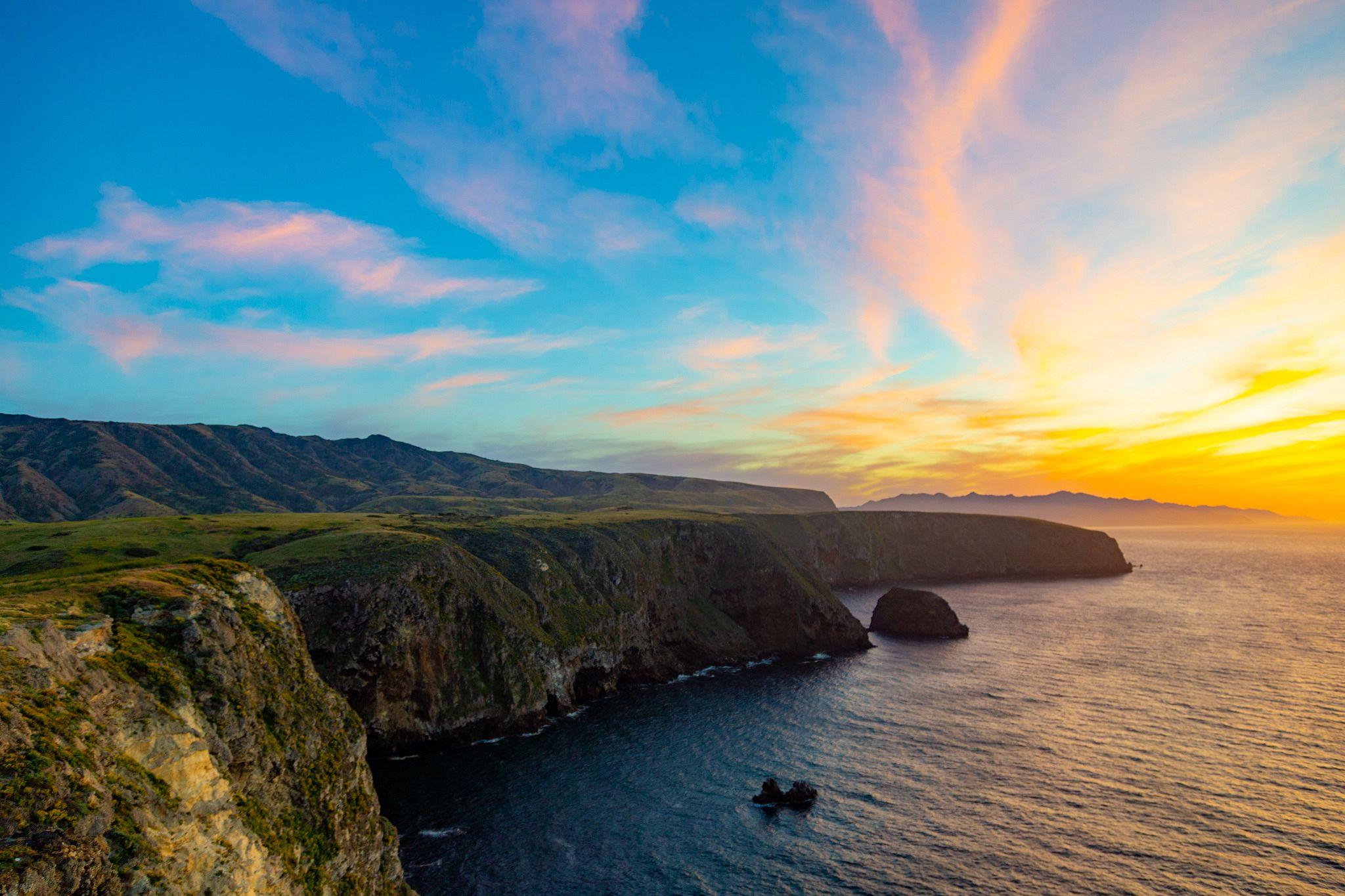 Sunset at Cavern Point