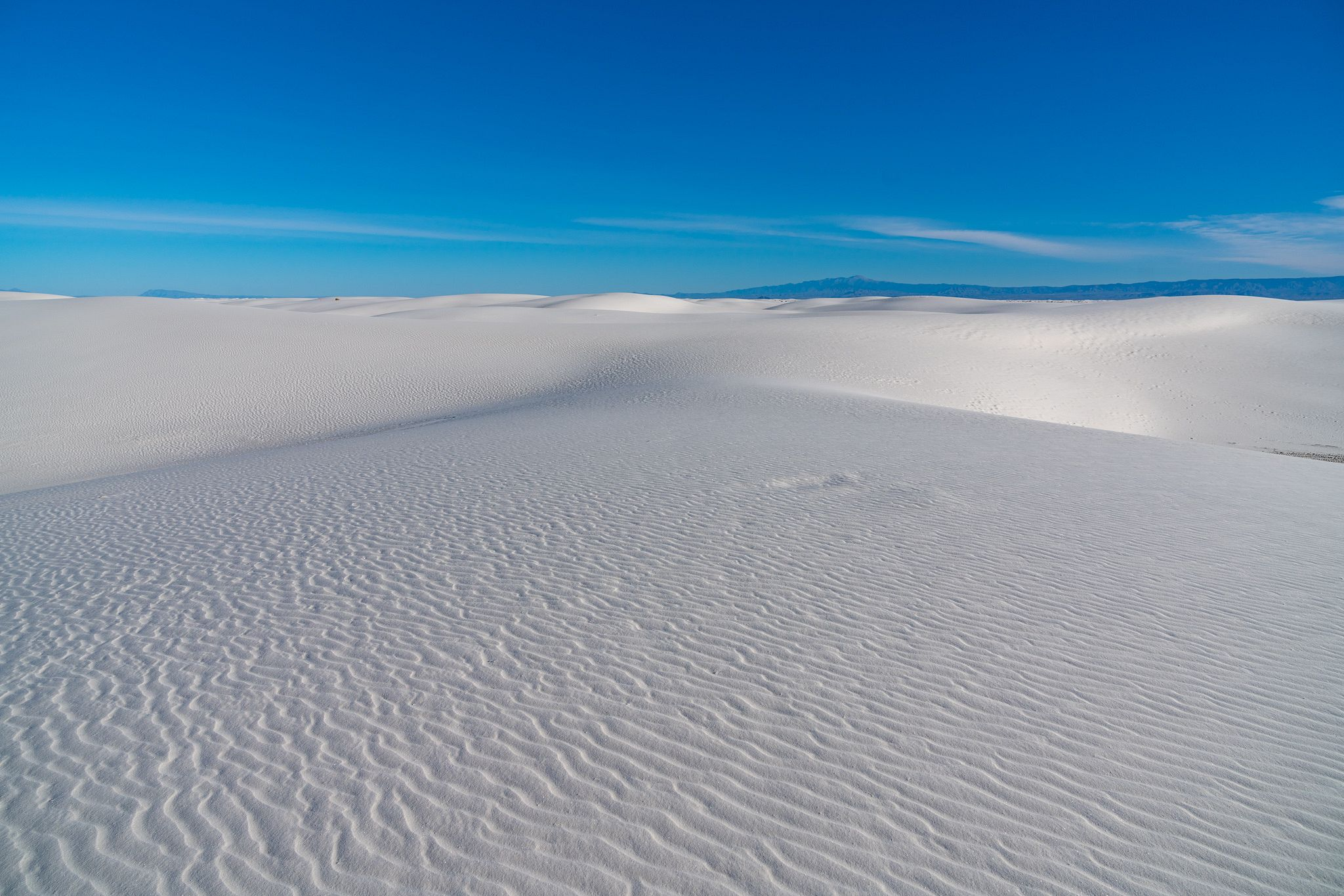 Blue Skies & White Sands