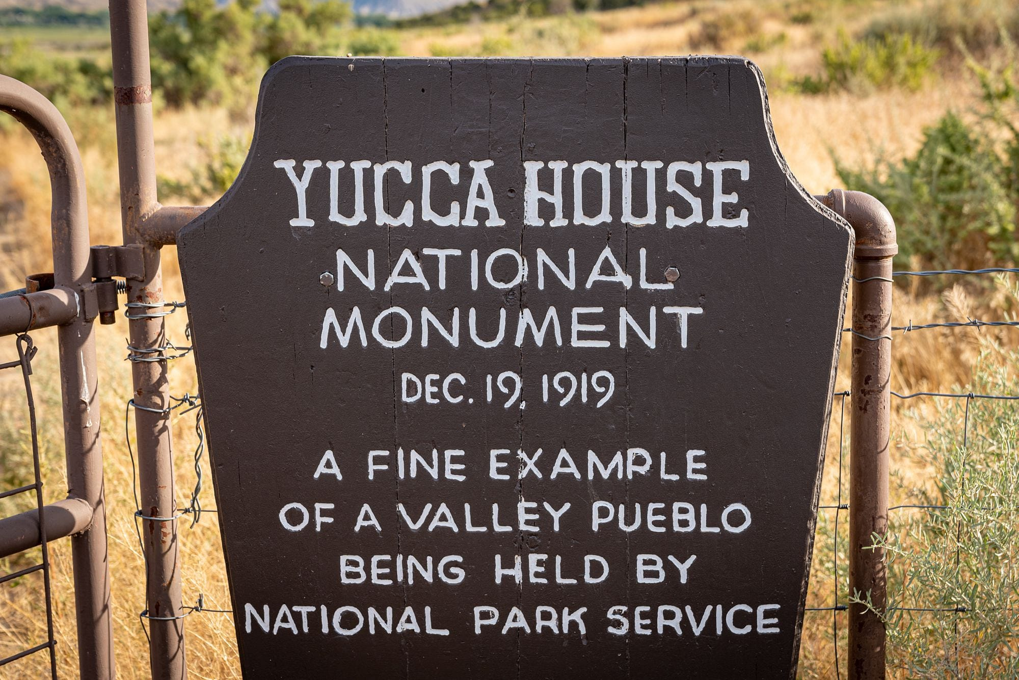 Yucca House National Monument Sign
